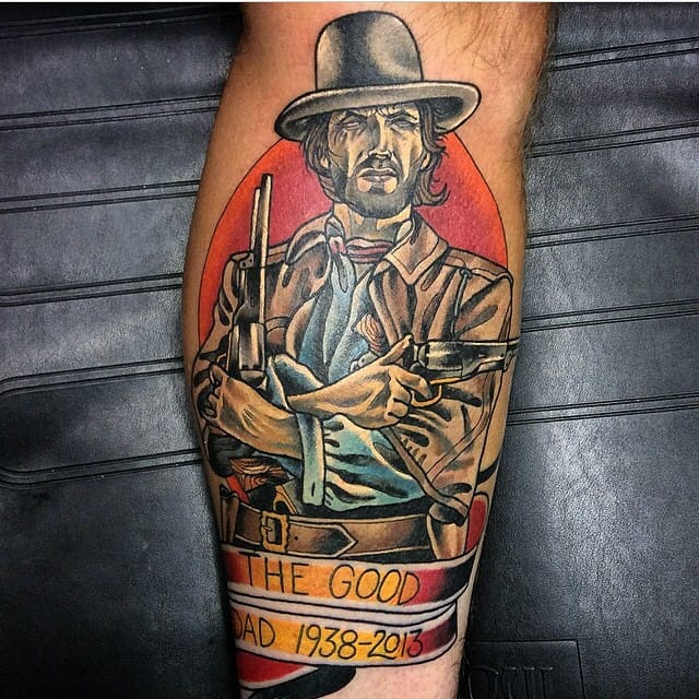 Clint Eastwood Tattoo by Bobby Ellis