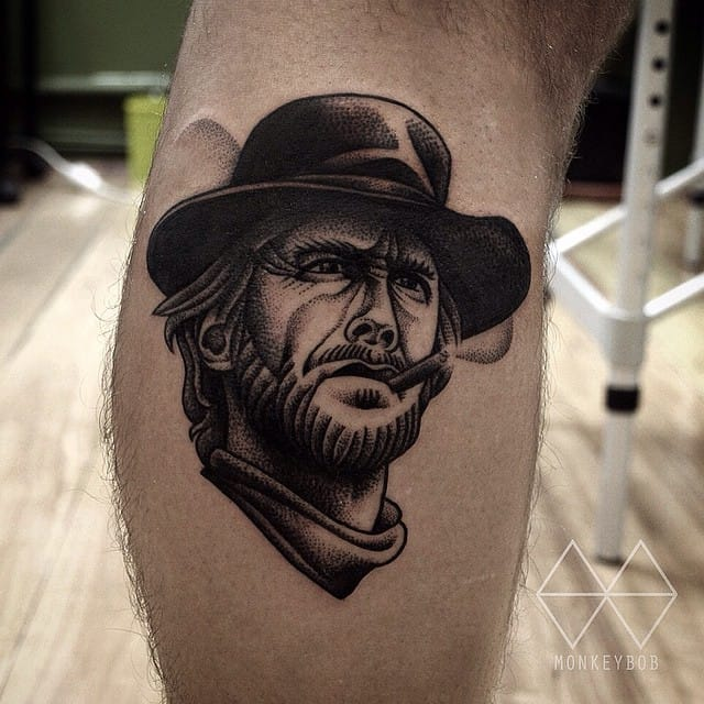 Clint Eastwood Tattoo by Monkey Bob