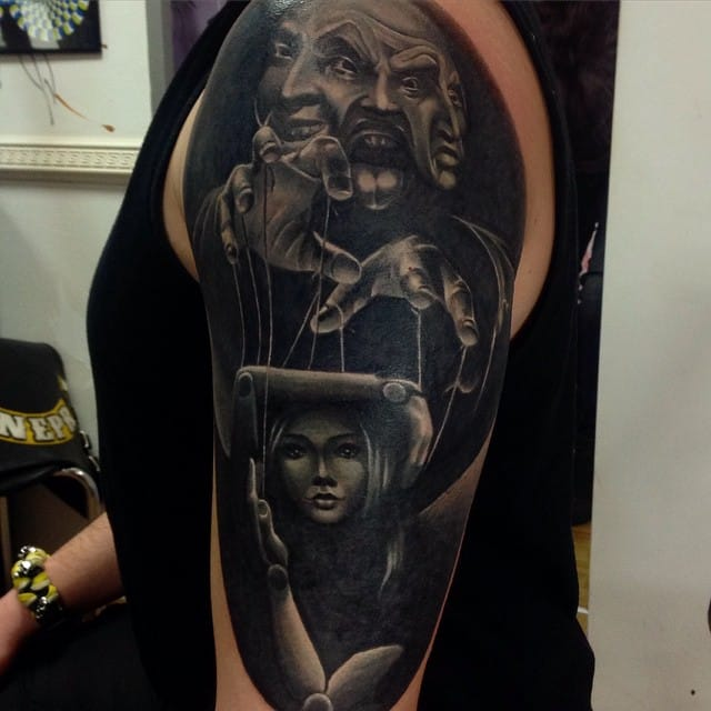 Horror tattoo by DP Tattoo.