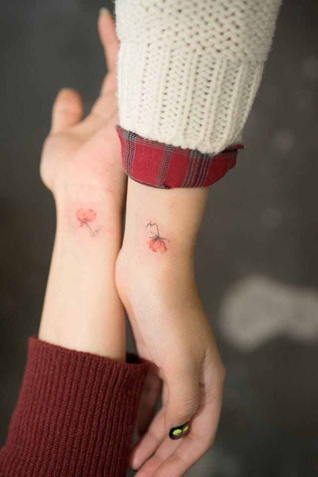 Elegant tattoos by Sol.