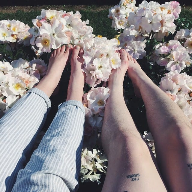 Total Relationship #Goals: Tattooed Flower Child Couple