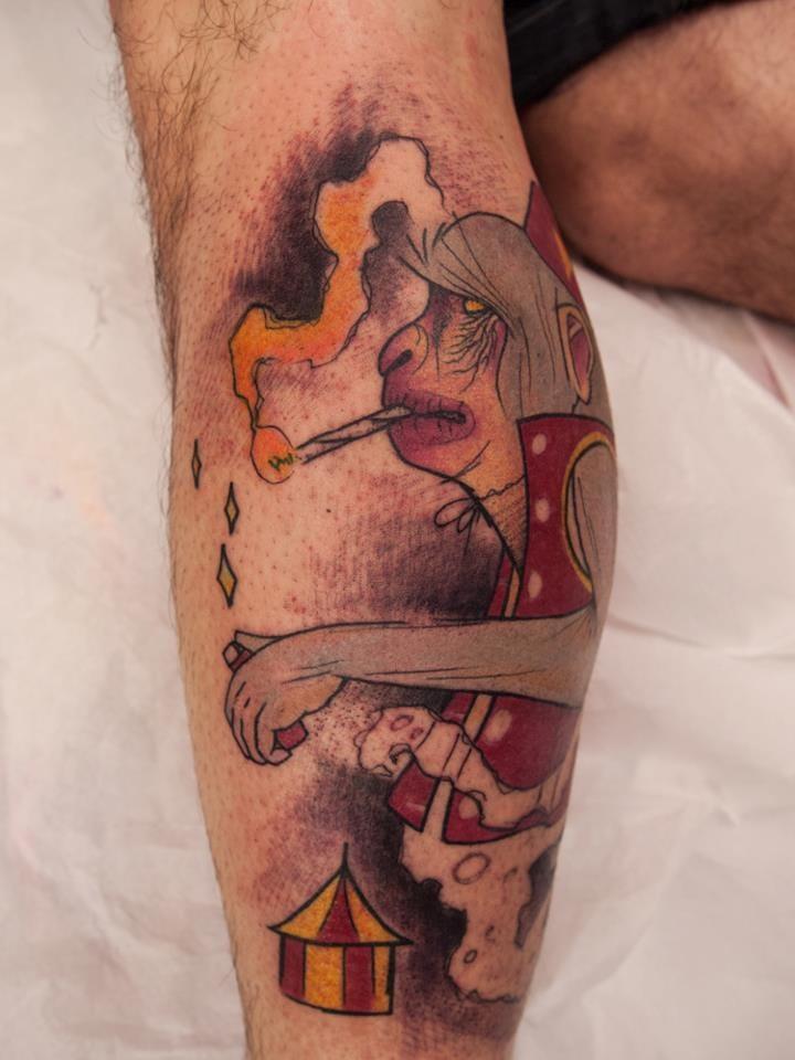 Fun smoking circus monkey by Sven Groenewald!