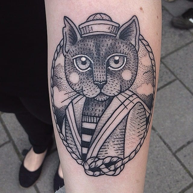 Sailor cat tattoo #SusanneKönig