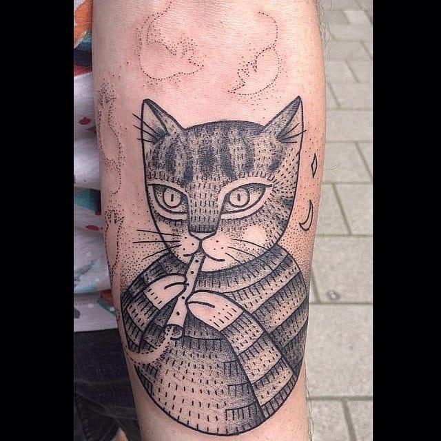 Cat tattoo #SusanneKönig