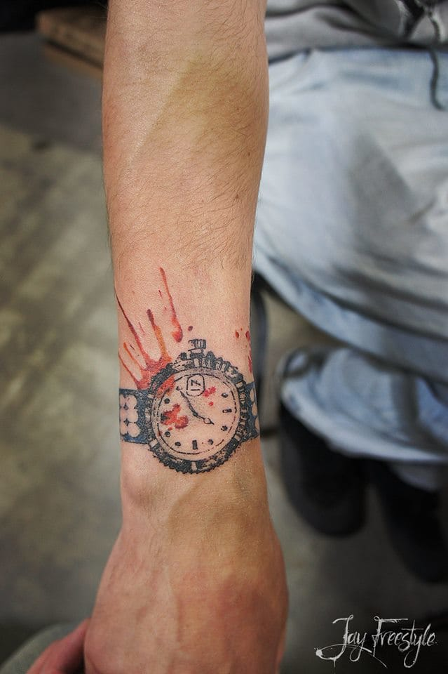 Fun Watch tattoo by Jay Freestyle.