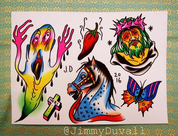 Surreal flash sheet Jimmy Duvall. Photo: Instagram.