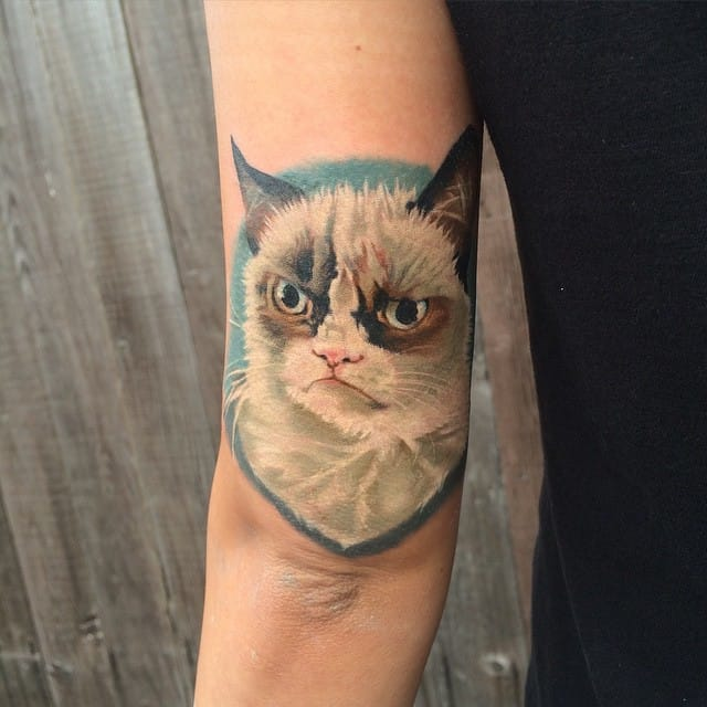 Grumpy Cat Tattoo by Jason Weaver