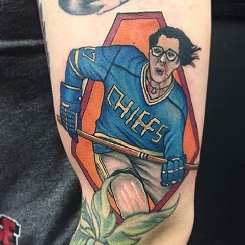 Hockey Player Tattoo by Chris Byrne