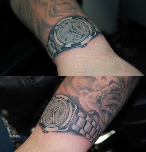 Who wants a real Rolex when you can have a Rolex tattoo????