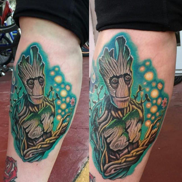 Groot Tattoo by Brandon Bennett