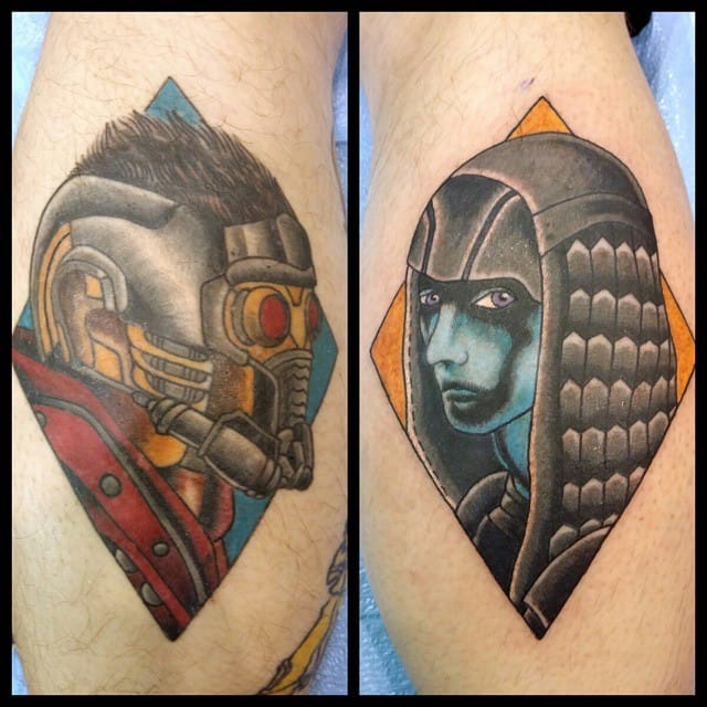 Guardians Of The Galaxy Tattoo by Steve Rieck