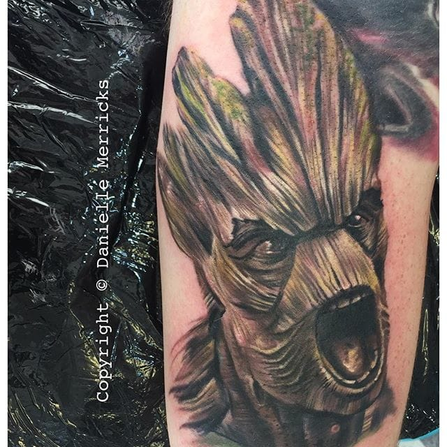 Groot Tattoo by Danielle Merricks