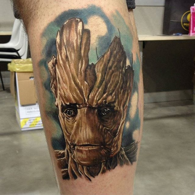 Groot Tattoo by Michele Spallacci