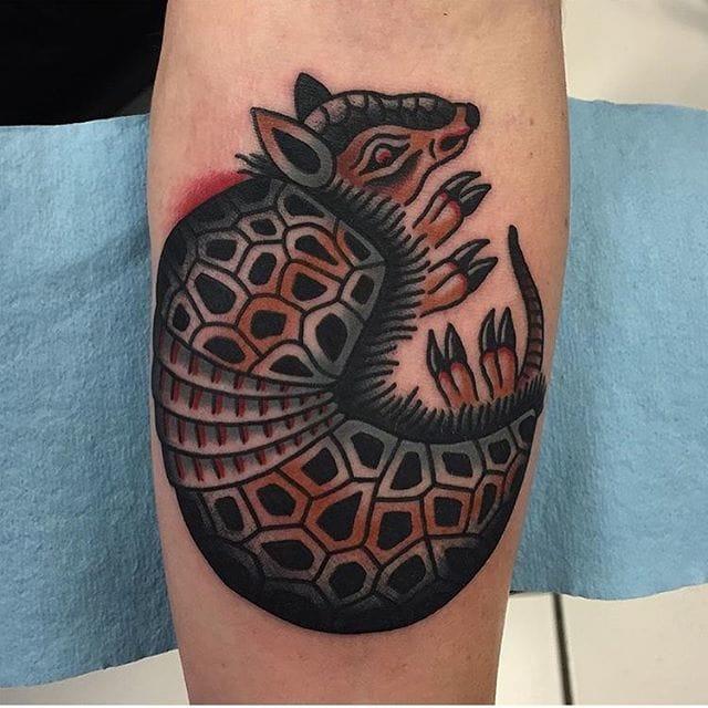 12 Adventurous Armadillo Tattoos