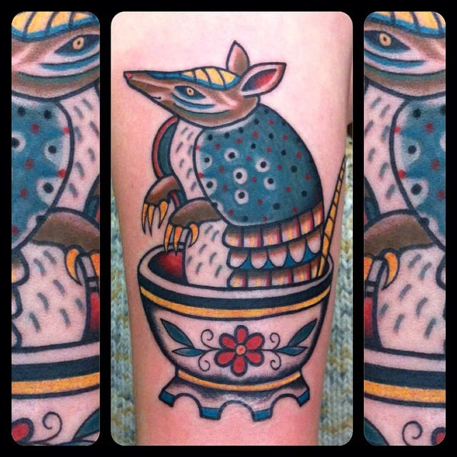 Armadillo Tattoo by Chiara Pina
