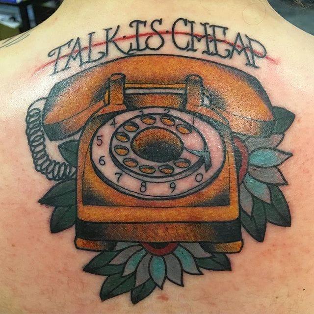 Telephone Tattoo by Jarod Silva