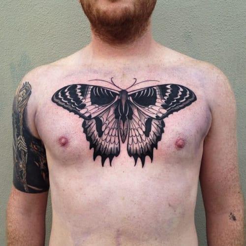 Blackwork Butterfly Tattoo by Pari Corbitt #butterfly #blackwork