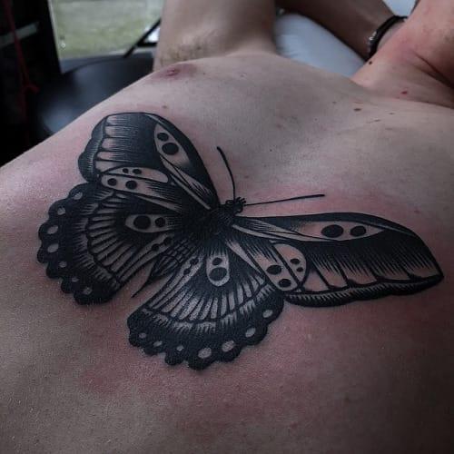 Blackwork Butterfly Tattoo by Ricky Williams #butterfly #blackwork