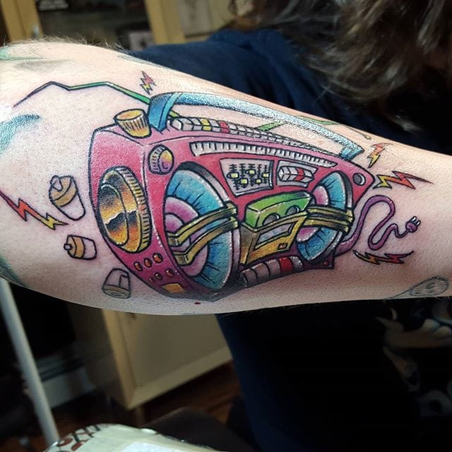 10 Boombox Tattoos For Your Inner Party Monster Tattoodo