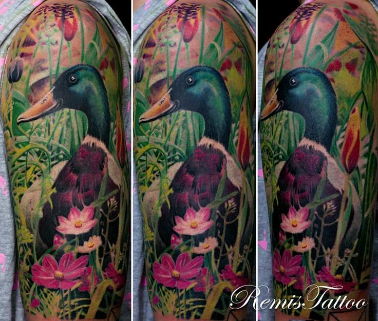 Duck tattoo. Photo: remistattoo.com