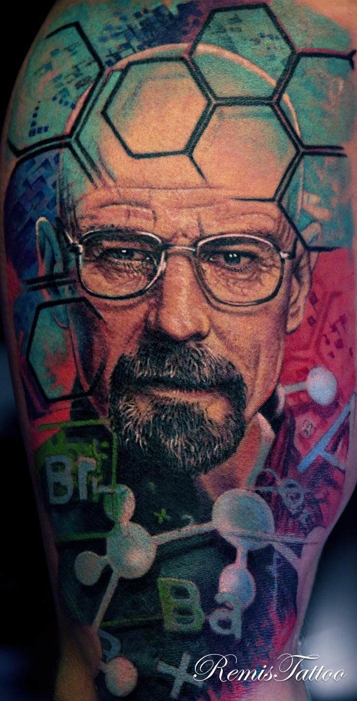 Breaking Bad tattoo. Photo: remistattoo.com