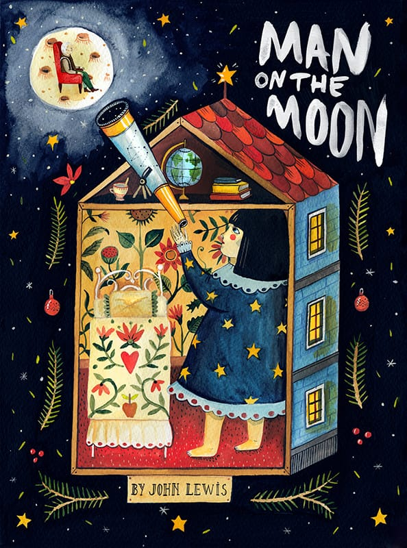 Man on the Moon for John Lewis. Art by Aitch.