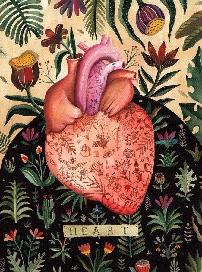 Heart print by Aitch.