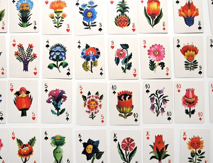 Flora Magica card designs.