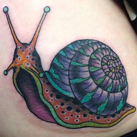 Snail Tattoo by Fist Full Of Metal Tattoo
