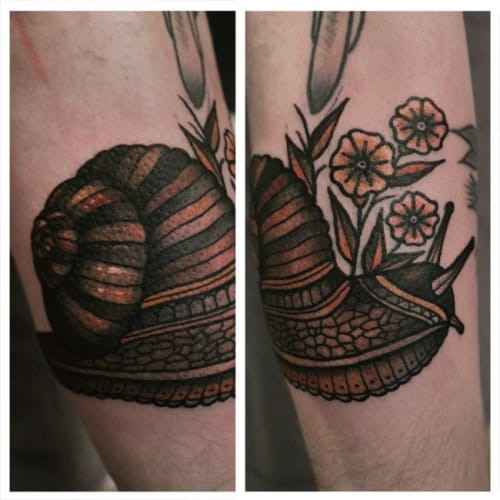 Snail Tattoo by Ibi Rothe