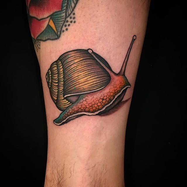 Snail Tattoo by Marta Messina