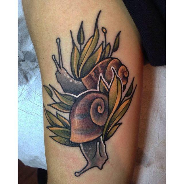 Snail Tattoo, unknown artist