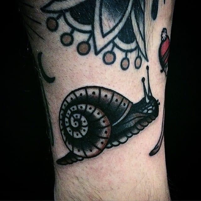 Snail Tattoo by Michele Ianni