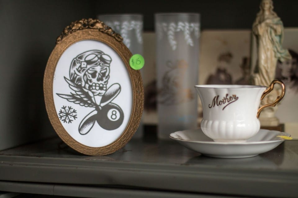 Many of the items for sale are tattoo related