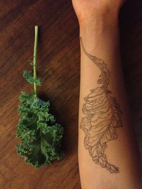11 Leafy Tattoos Of Devoted Kale Lovers