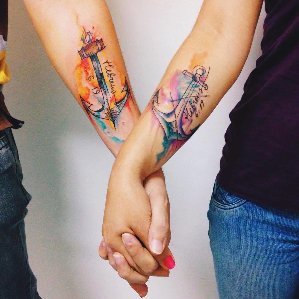 Lovely matching tattoos...