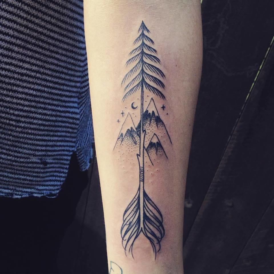 Tree arrow tattoo #SupaKitch