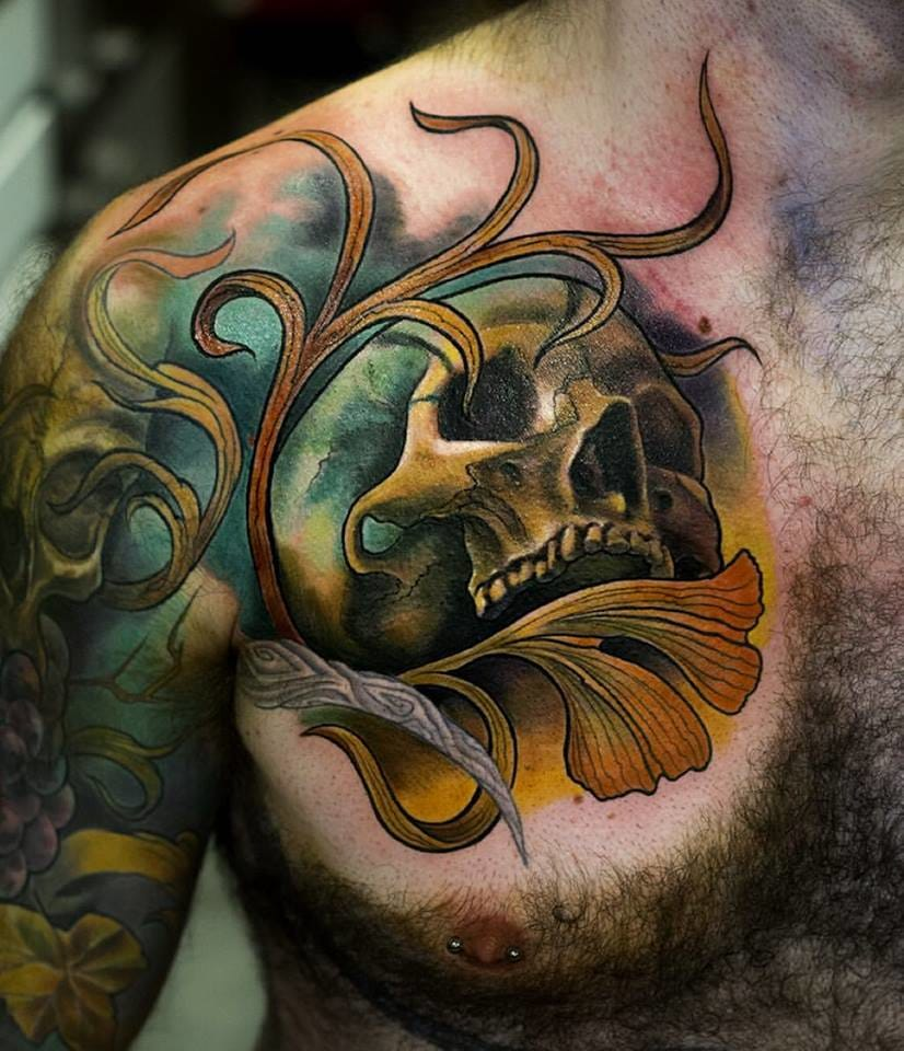 Rad skull tattoo #JulienThibers