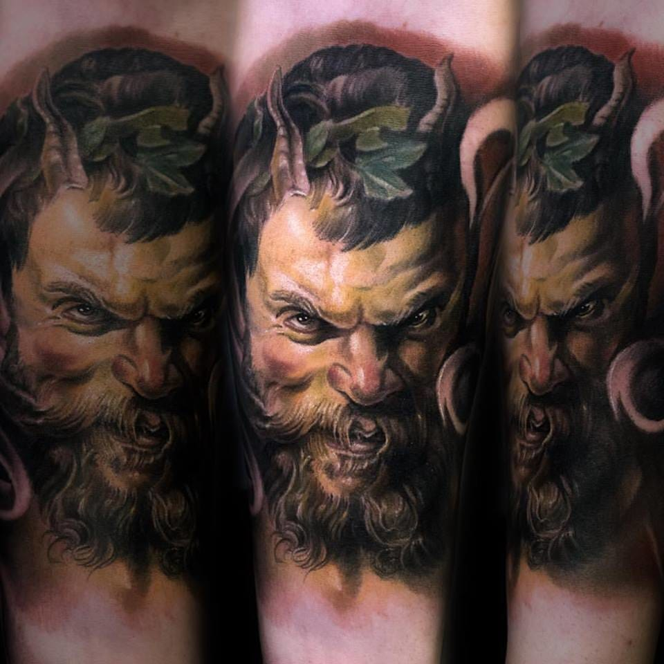 God Dionysos tattoo #JulienThibers