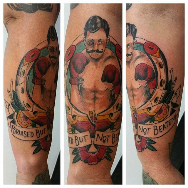 Fighter Tattoo by Jeremy Cook