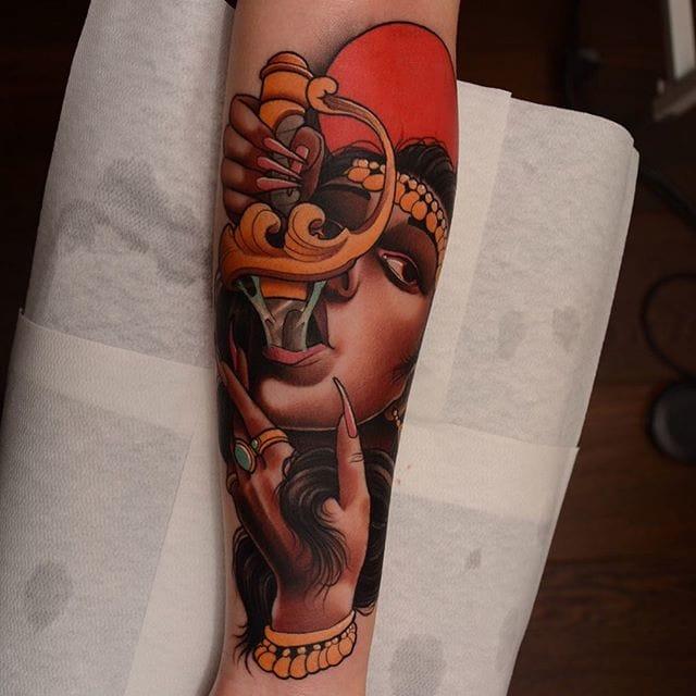 11 Entertaining Sword Swallower Tattoos