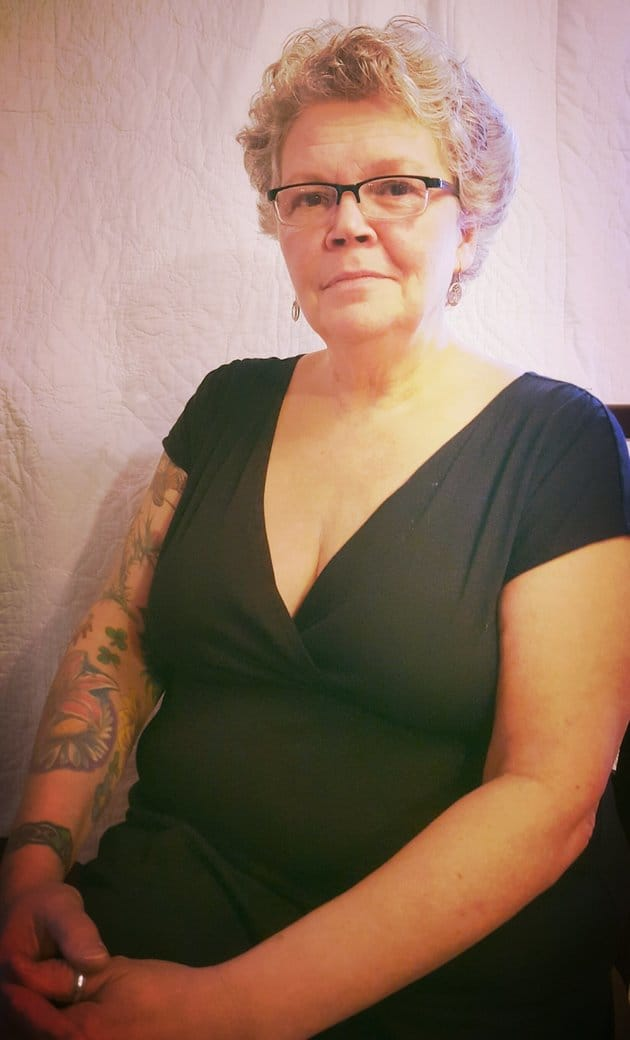 Joanne Keith has a number of tattoos on her right arm