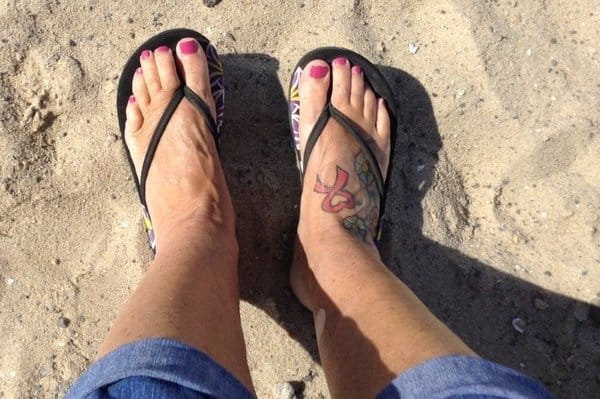 Melinda Green's foot tattoo one of six designs she got after retirement