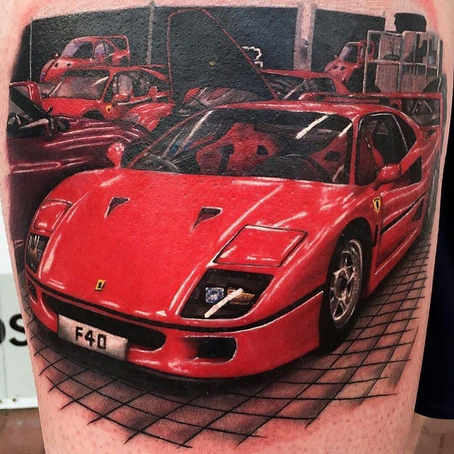 18 Car Tattoos Designs For That Need For Speed Itch