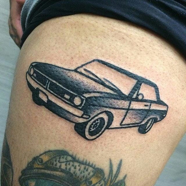 18 car tattoos designs for that need for speed itch tattoodo. Black Bedroom Furniture Sets. Home Design Ideas