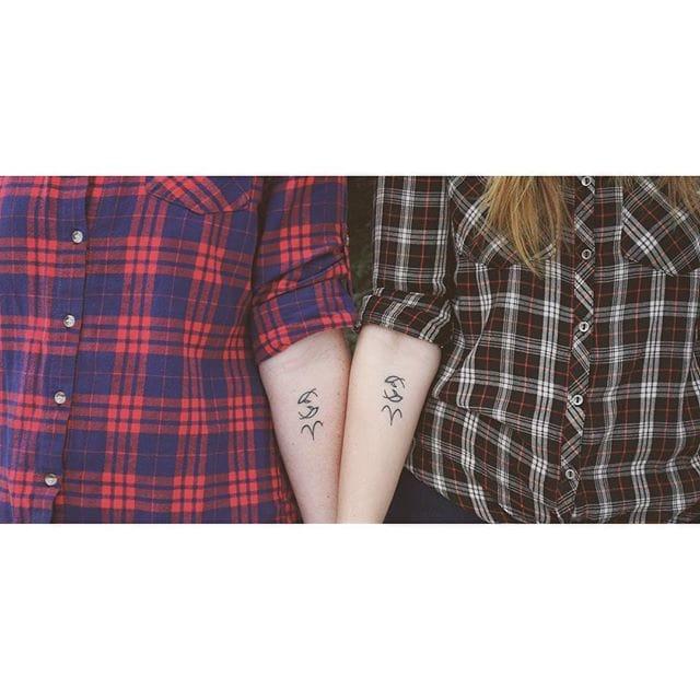 Jesse and sister's zodiac tattoos