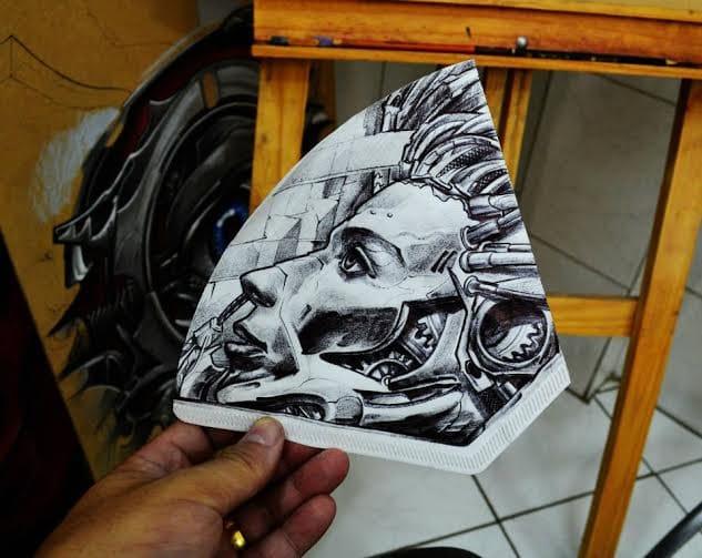 Desenho feito com caneta esferográfica, a famosa bic!