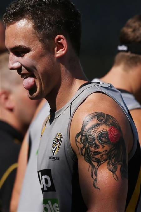 Brad Helbig also from the Richmond Tigers Mexican piece, photo by Michael Dodge/Getty Images
