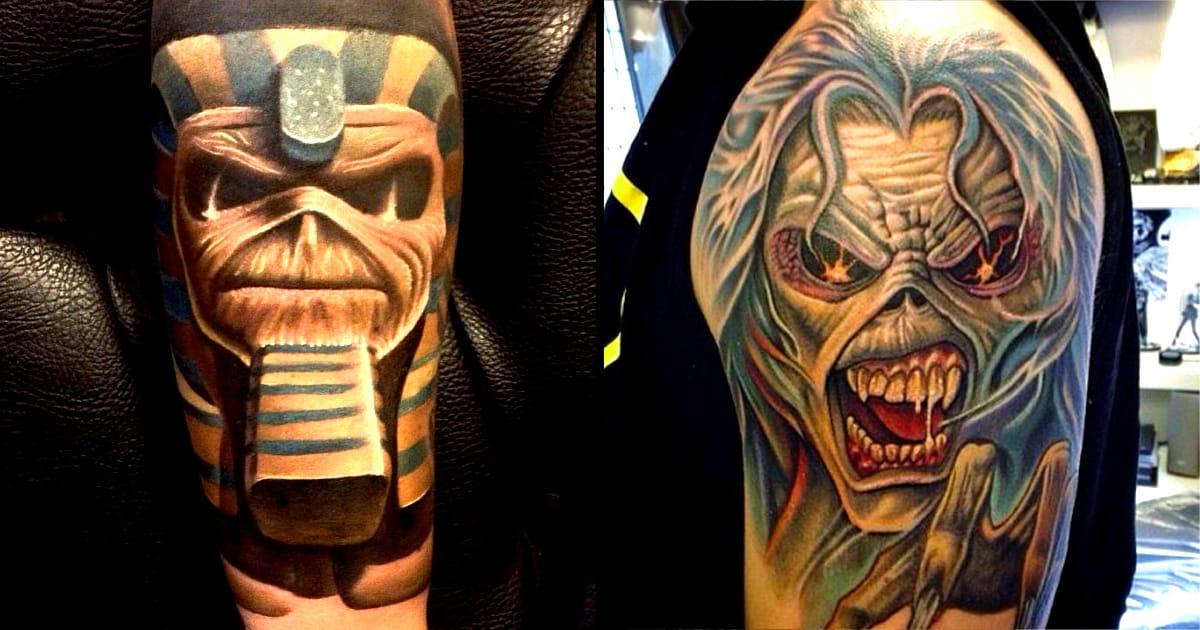 19 killer eddie tattoos for iron maiden fans tattoodo. Black Bedroom Furniture Sets. Home Design Ideas