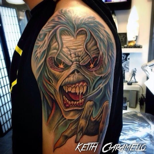 "Inspired by the Eddie from the cover ""The Number of the Beast"" Tattoo by Keith Ciaramello"